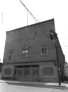 Sharpshooter's Hall, headquarters of Sharpshooter's Guard No. 1 and location of the 1950 Annual Competition Drill and Dance. This builing was demolished to make way for Interstate 195.